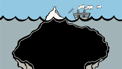 White Hat vs Blackhat SEO Iceberg